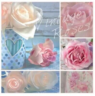 4x Paper Napkins for Decoupage Decopatch Craft /Vintage roses