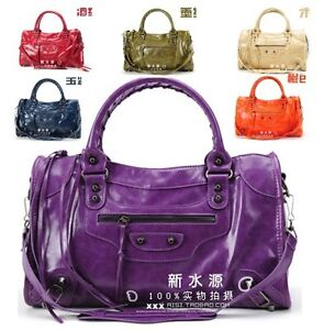 Lady Women Handbag Shoulder Motor Bag PU Leather Motorcycle Bag