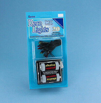 Dollhouse Miniature Battery Operated Multicolored Christmas Lights #LT20-3