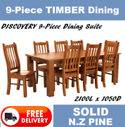 BRAND NEW 9-Piece SOLID TIMBER Dining Suite - DELIVERED FREE New Farm Brisbane North East Preview