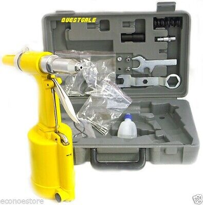 Portable Pneumatic Air Hydraulic Pop Rivet Gun Riveter Riveting Tool Kit W Case