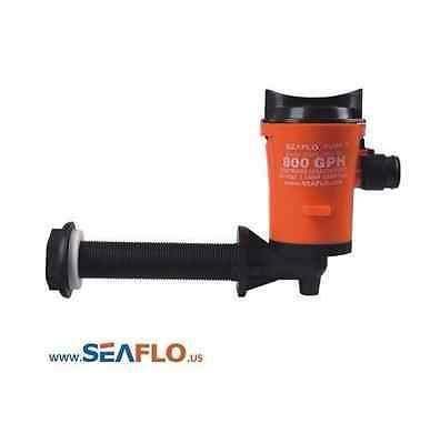 SEAFLO 12v 800gph Livewell Live Well Boat Tank Aerator Submersible Bilge Pump