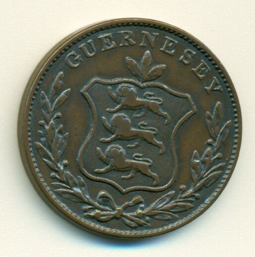 GUERNSEY 1834 8 doubles XF+