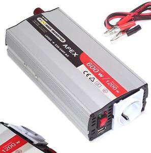 06149 Spannungswandler 600W 1200W USB 12V Stromwandler Inverter Wechselrichter