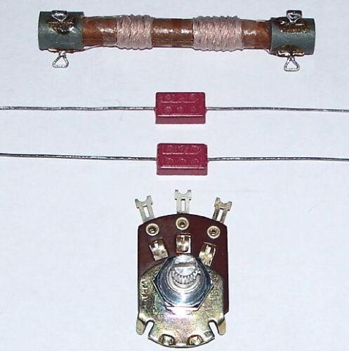 RARE Heathkit CR-1 vintage AM crystal radio kit ORIGINAL COIL - switch - cap set