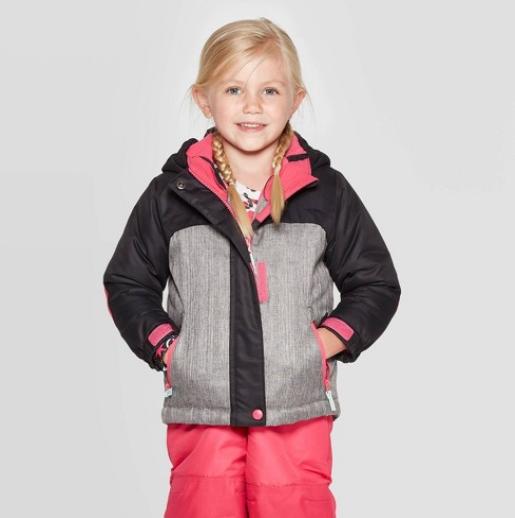 Toddler Girls' 3-in-1 Jacket – Cat & Jack Grey/Pink 3T Baby