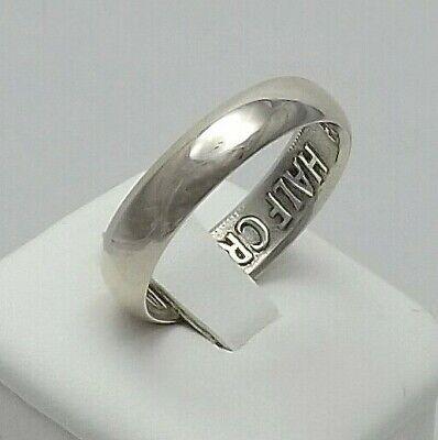 1939 British Half Crown Silver Coin Wedding Band Ring Unique