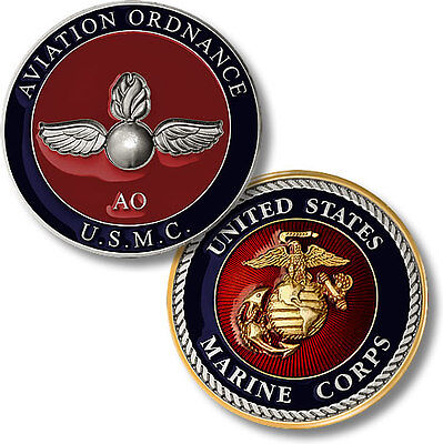 U.S. Marine Corps / Aviation Ordnance  - USMC Challenge Coin