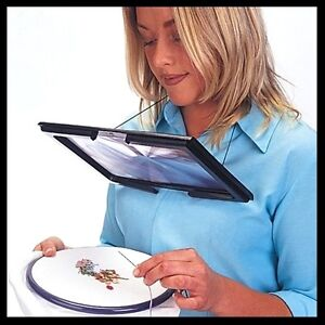 Giant Hands Free  Magnifying Glass - Reading Sewing Craft Knitting UK SELLER