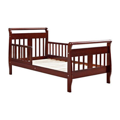 Brown Kids Bedroom Furniture - Toddler Bed Frame Bedroom Furniture Kids Children Wood Slate Cherry New Wooden