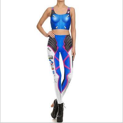 Woman  Super Hero DVA cosplay printed Legging set Bra Crop Top set 1032