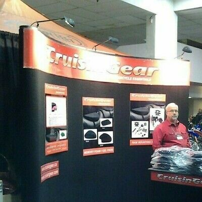 Trade Show Booth Black Curved 10 Display Pop Up Set Up W Case With 3lights