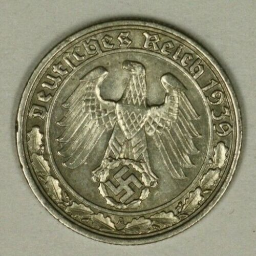 Germany Third Reich 50  Reichspfennig 1939 A   AU  A736