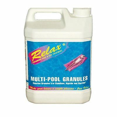 5kg Relax Multi Functional 3-in-1 Swimming Pool Chlorine Granules