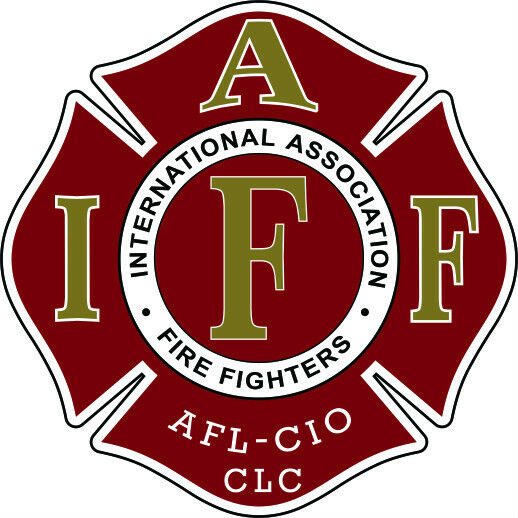 """4"""" IAFF Decal Maroon with Gold Trim Exterior Mount Please Read Auction"""