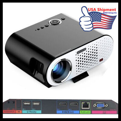 GP90 UP WIFI Projector HD Office Home Cinema Theater HDMI Bluetooth 4.0 1080P US