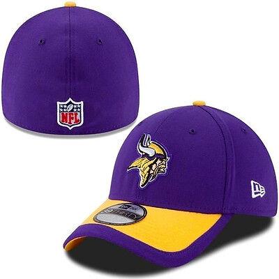 Mens Nfl Minnesota Vikings New Era 39Thirty Stretch Flex Fit Cap Hat Small Med