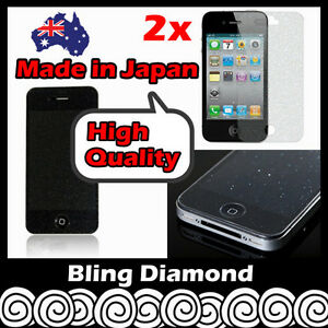 Diamond Glitter Sparkling Bling Screen Protector Film Guard for iPhone 4S 4