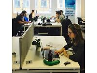 Desk Space / Private Office Space in our Bright Co-working Space in Clerkenwell / Holborn