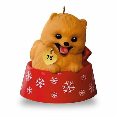 (Hallmark ~ Dated 2016 Puppy Love - Pomeranian - Ornament)