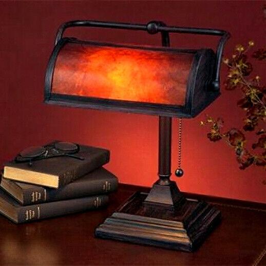 mica mission craftsman bankers desk lamp new
