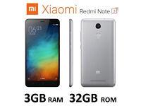 Redmi Note 3 gray 5.5 inch FHD 3gb 32gb 13MP Dual SIM Unlocked VGC