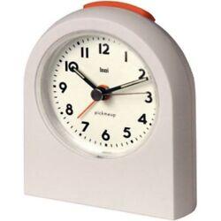 Bai Design Pick-Me-Up Travel Alarm Clock- Snooze & Backlight- MATTE WHITE