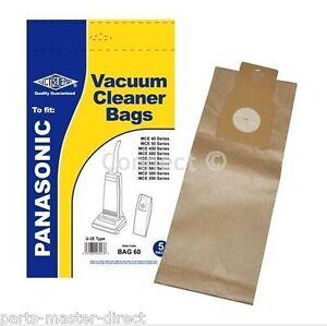 Panasonic MCUG304 U-2E U20E U20AB Upright Vacuum Hoover Dust Bags 5 Pack