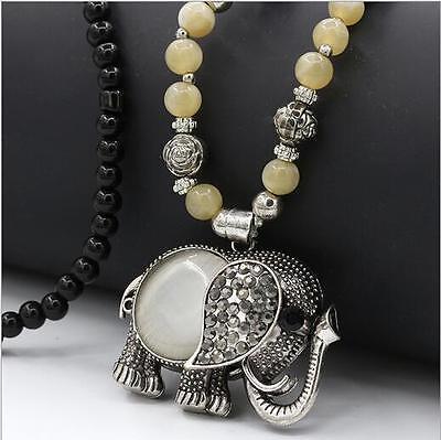 NEW Fashion Jewelry Elephant Crystal Statement Bib Chain Pendant Choker Necklace