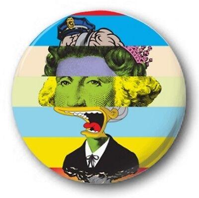 PUNK GRAFFITI - 1 inch / 25mm Button Badge - Anarchy Street Banksy Simpsons