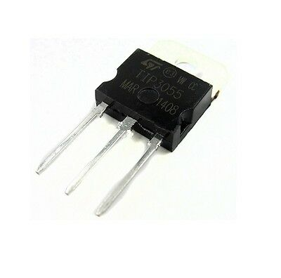 5pcs Ic Tip3055 Transistor Npn 60v 15a New