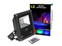 Waterproof LED Floodlight, 16 colours 4 modes, 6 for £50