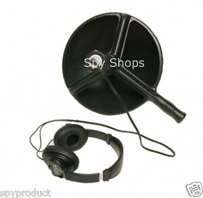 Bionic Ear   Booster Amplified Parabolic Dish Microphone Hearing Listening Kit
