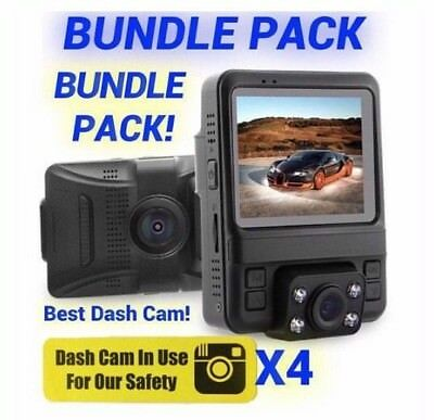 Uber Lyft Dash Cam Bundle Pack 1080p Dual Car Camera Best Rideshare (Best Dual Dash Cam)