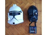 Star Wars Clone Trooper And Darth Vader Masks With Sound Effects