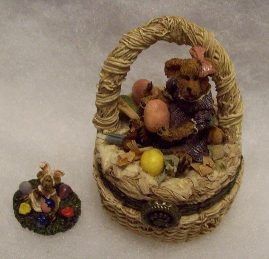 BOYDS TREASURE BOX LAUREL WITH PICASSO / EASTER BASKET