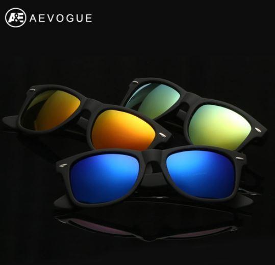 AEVOGUE Polarized Men's Sunglasses Unisex Style Metal Hinges