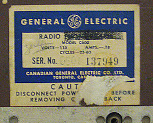 Vintage 1948 General Electric Bakelite Kitchen Vacuum Tube Radio Regina Regina Area image 3