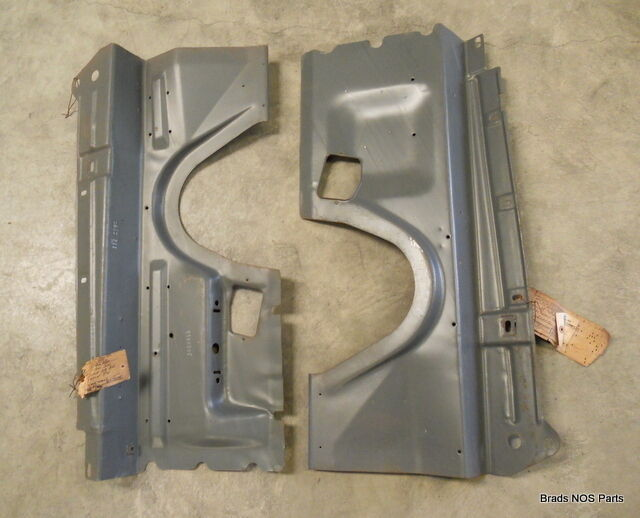 Nos Mopar 1966 67 68 69 70 B-body Superbird Gtx Charger  Inner Fender Panel Pair
