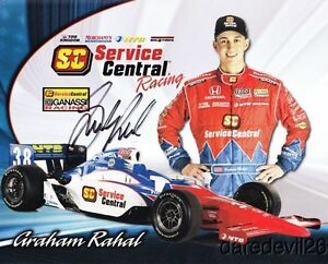2011-Graham-Rahal-signed-Service-Central-Honda-Dallara-Indy-Car-postcard