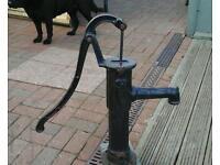 Old cast iron hand pump