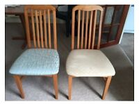 Dining table set - x 4 chairs wooden