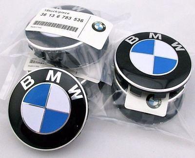 X4 Genuine BMW Emblem Logo Badge Hub Wheel Rim Center Cap 68mm Set of 4
