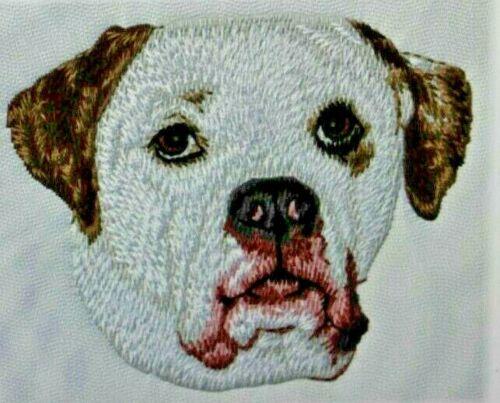 American Bulldog Dog Breed Bathroom SET OF 2 HAND TOWELS EMBROIDERED