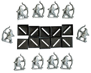 10 Goblins with bows Classic Plastic Warhammer minis