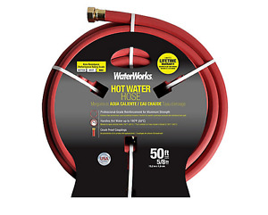 "Waterworks Industrial Hot Water Rubber Hose – 5/8"" x 50 Ft"