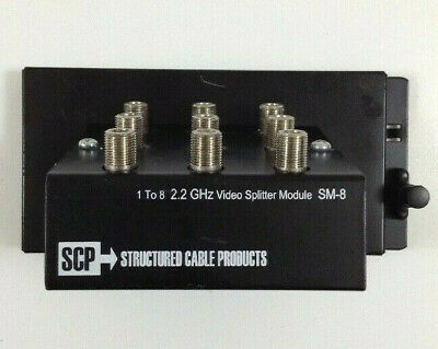 Structured Cable Products SCP SM-8 Passive 1X8 Video Splitter Module 8 Video-splitter Modul