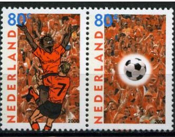 Nederland 2000 1888-1889 EK Voetbal - Football Joint issue met België
