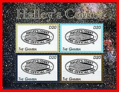 HALLEYS COMET M/S OF 4 MNH  POSTFRISCH ASTRONOMY & SPACE
