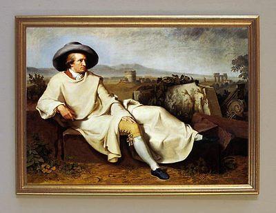 Tischbein Maler Bildnis Johann Wolfgang Goethe Römische Campagna 10 im Rahmen